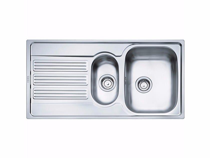 Lavello a una vasca e mezzo da incasso in acciaio inox con sgocciolatoio GOX 651 - FRANKE