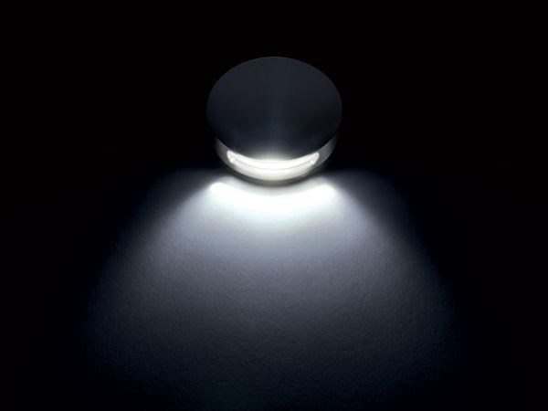 LED wall-mounted stainless steel steplight GRACE 1L - Quicklighting