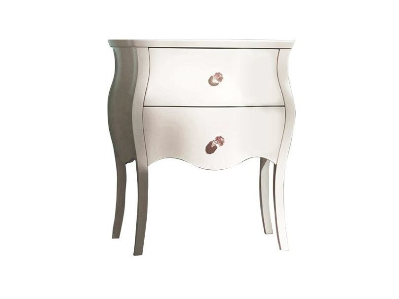 Classic style lacquered square wooden bedside table with drawers GRACE   Bedside table by Chaarme