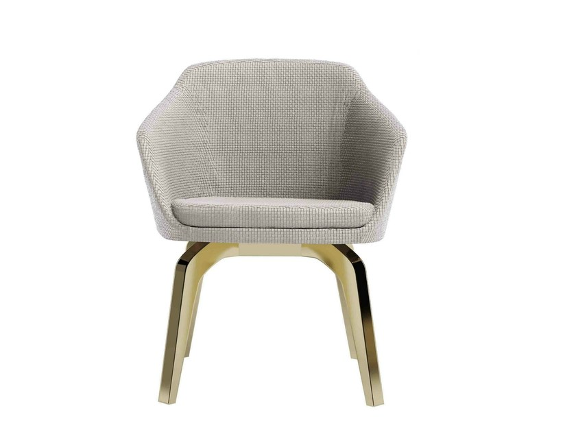 Upholstered fabric easy chair with armrests GRACE by Capital Collection
