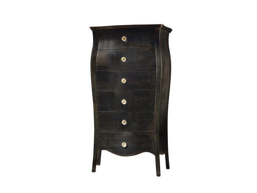 Free standing lacquered wooden chest of drawers GRACE | Chest of drawers by Chaarme