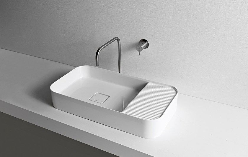lavabo in ceramilux graffio lavabo antonio lupi design. Black Bedroom Furniture Sets. Home Design Ideas