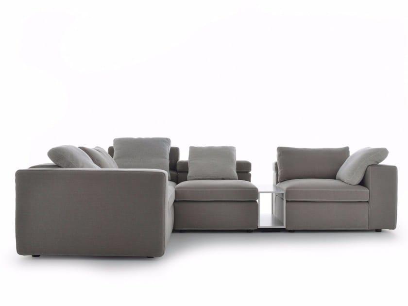 Corner sectional fabric sofa GRAFO | Corner sofa - MDF Italia