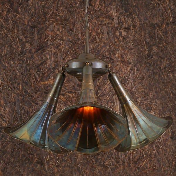 Direct light handmade chandelier GRAMOPHONE QUIRKY LIGHT FITTING by Mullan Lighting