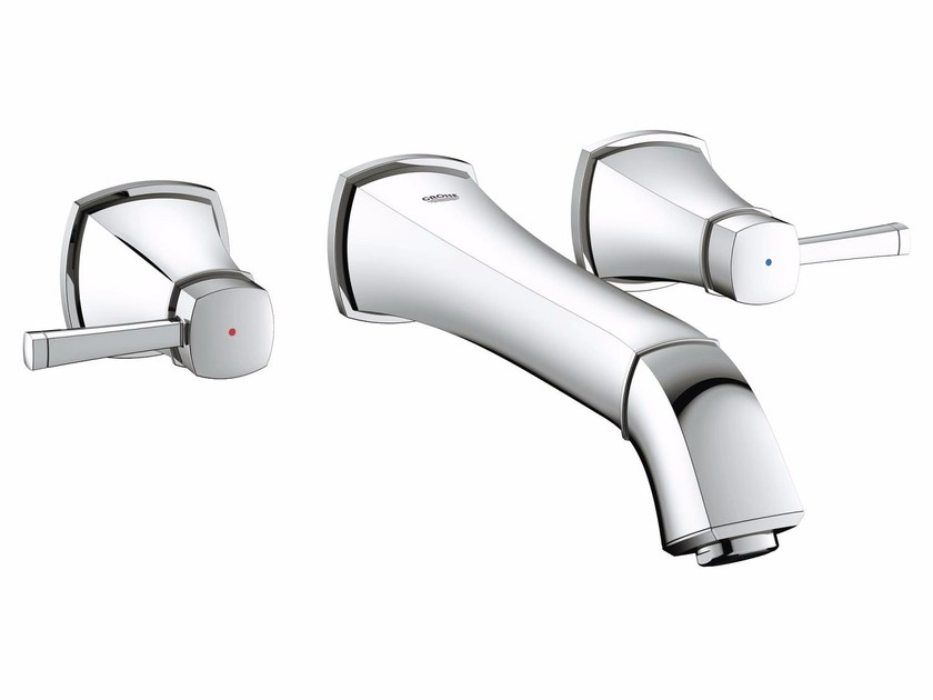 3 hole washbasin tap GRANDERA™ SIZE M | Wall-mounted washbasin tap by Grohe