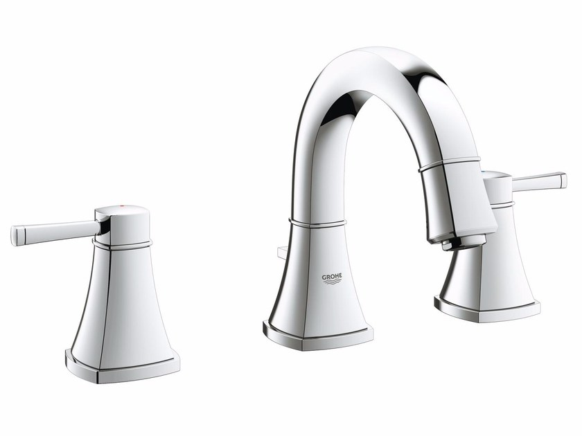 3 hole countertop washbasin tap with pop up waste GRANDERA™ SIZE S | Washbasin tap by Grohe