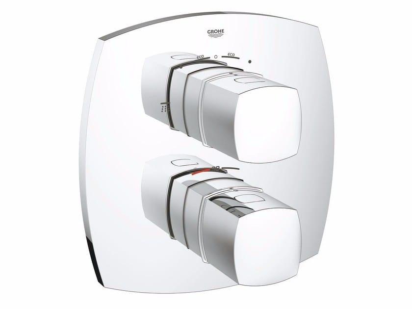 Miscelatore termostatico per doccia a 2 fori con piastra GRANDERA™ | Miscelatore termostatico per doccia con deviatore by Grohe