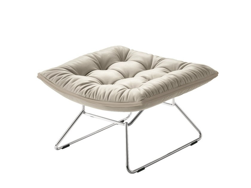 Leather pouf / footstool GRANDTOUR 897/P by Zanotta