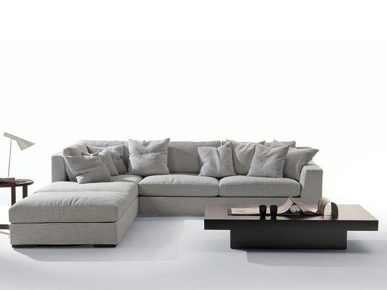 Fabric sofa with chaise longue GRANMILANO | Sofa with chaise longue - Marac
