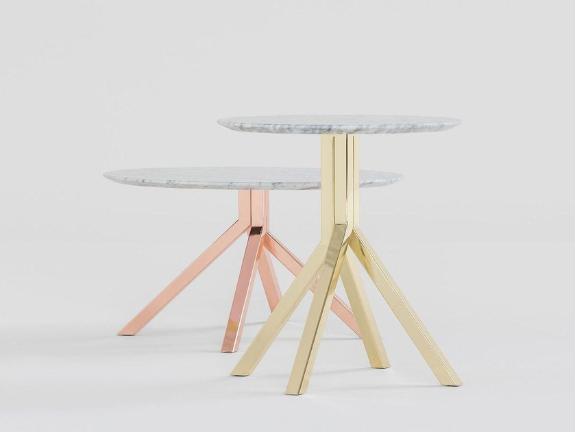 Round marble table GRAPEVINE | Marble table by BILLIANI
