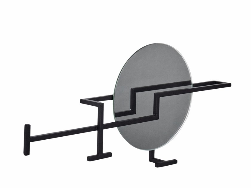 Wall-mounted glass and steel coat rack GRAPHIC | Coat rack by Kristina Dam Studio