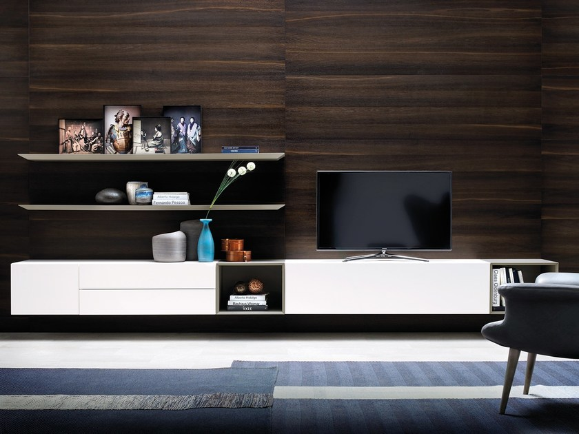 Modular TV wall system GRAPHOS PLUS by Silenia