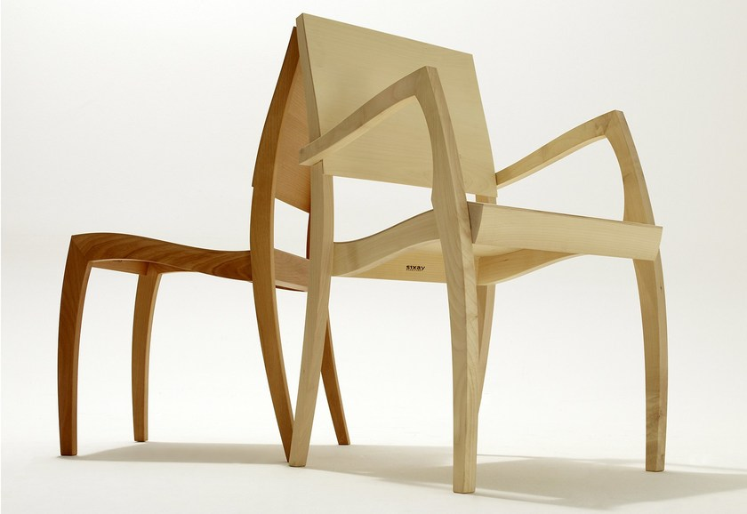 Stackable wooden chair GRASSHOPPER ² | Stackable chair - sixay furniture