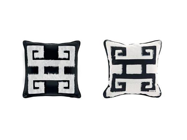 Square velvet cushion GREEK KEY - Gianfranco Ferré Home