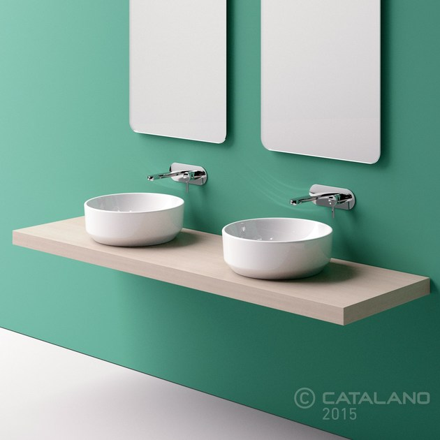 Countertop round ceramic washbasin GREEN 42 - CERAMICA CATALANO