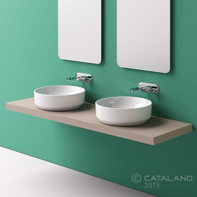 Countertop round ceramic washbasin GREEN 48 - CERAMICA CATALANO