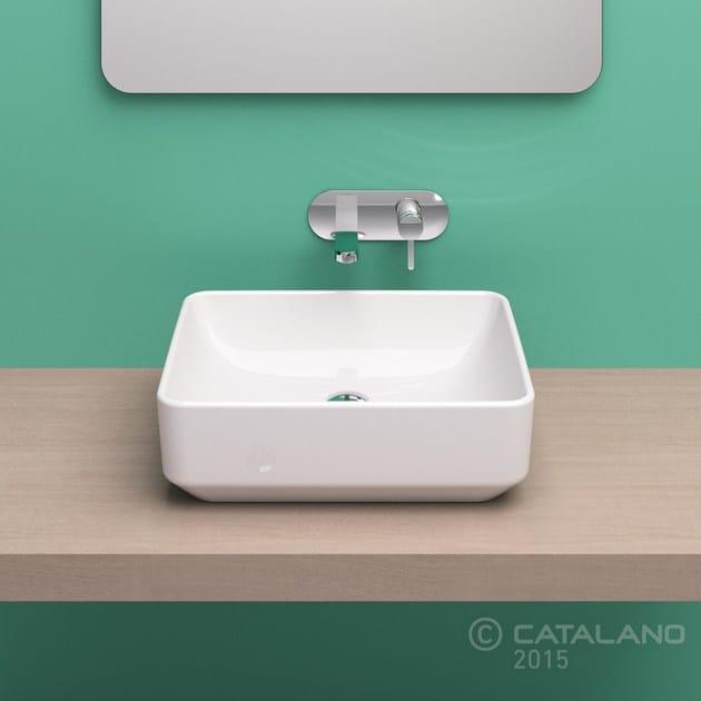 Countertop rectangular ceramic washbasin GREEN 50 - CERAMICA CATALANO