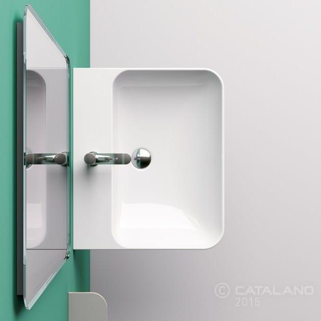 Wall-mounted ceramic washbasin GREEN 60 - CERAMICA CATALANO
