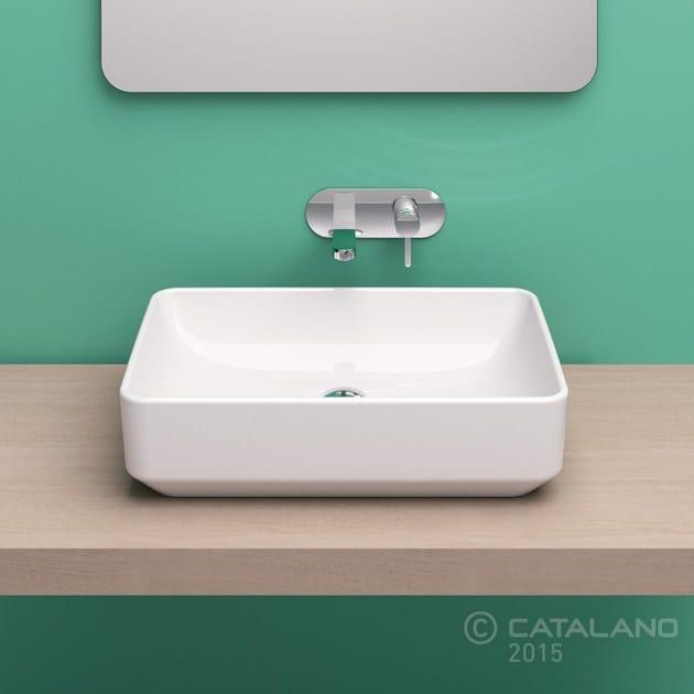 Countertop rectangular ceramic washbasin GREEN 60 | Countertop washbasin - CERAMICA CATALANO
