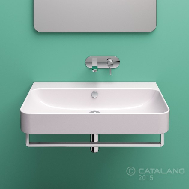 Lavabo sospeso in ceramica green 80 by ceramica catalano for Ceramica catalano