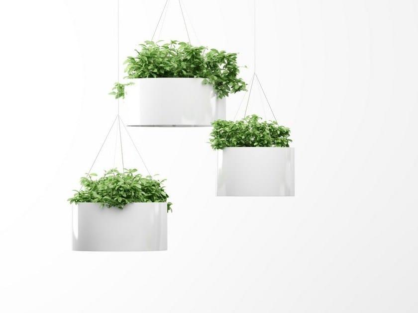 Hanging aluminium plant pot GREEN CLOUD | Plant pot - Systemtronic