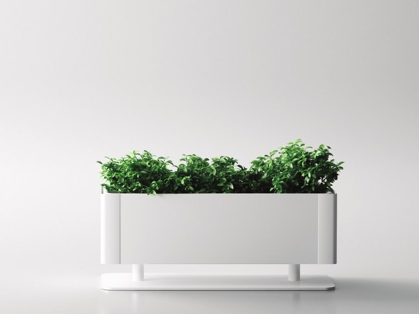 Aluminium plant pot GREEN LIGHT_T - Systemtronic