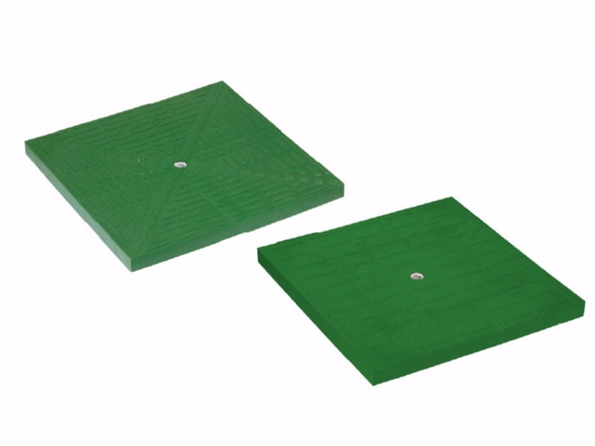 Manhole cover and grille for plumbing and drainage system GREEN PLUS COVER by Dakota