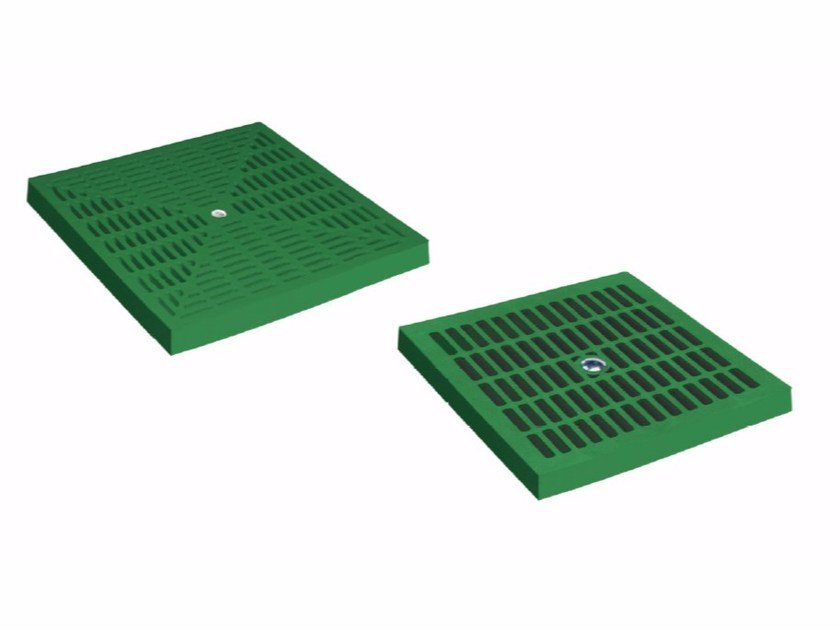 Manhole cover and grille for plumbing and drainage system GREEN PLUS GRATING by Dakota