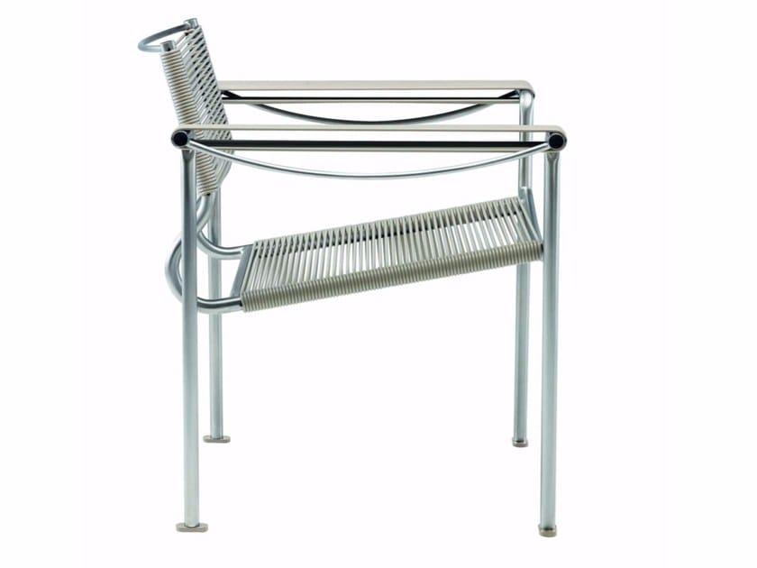 Stackable garden armchair with armrests GREEN PVC - 202_O - Alias