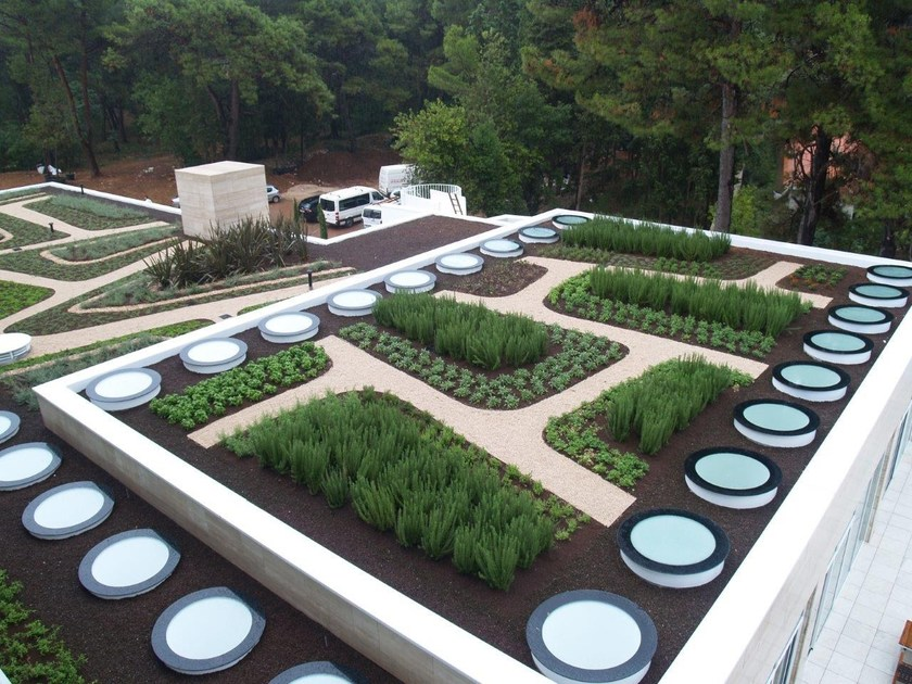 Prefabricated bituminous membrane GREEN ROOF by POLYGLASS