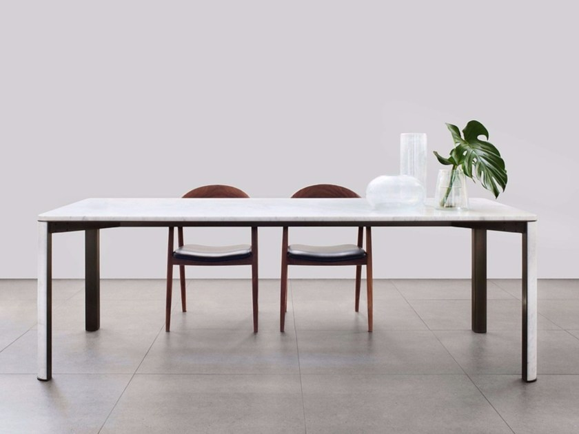 Contemporary style marble dining table GREGORIO | Carrara marble table - mg12