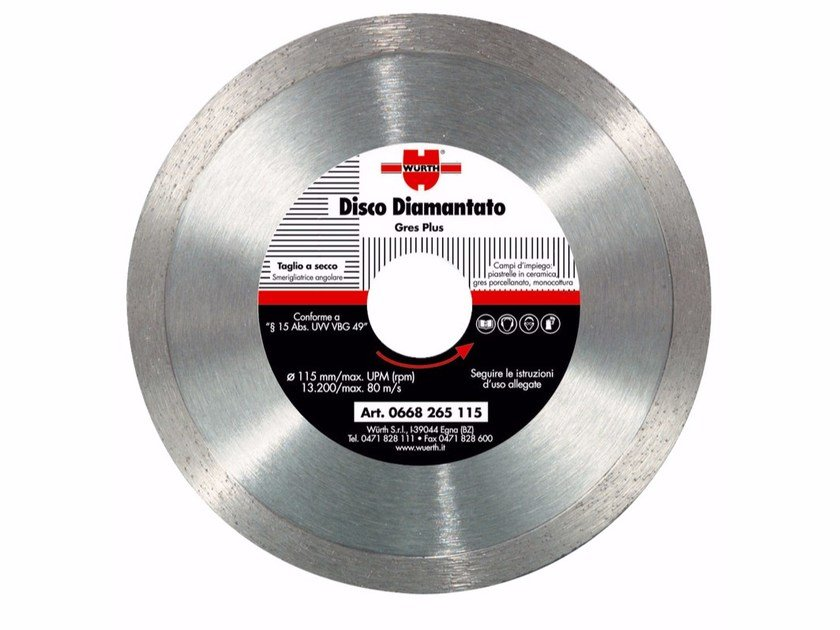 Diamond-coated Disc GRES PLUS - Würth