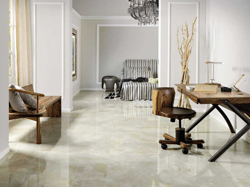 Porcelain stoneware wall tiles / flooring GREVIN by Museum