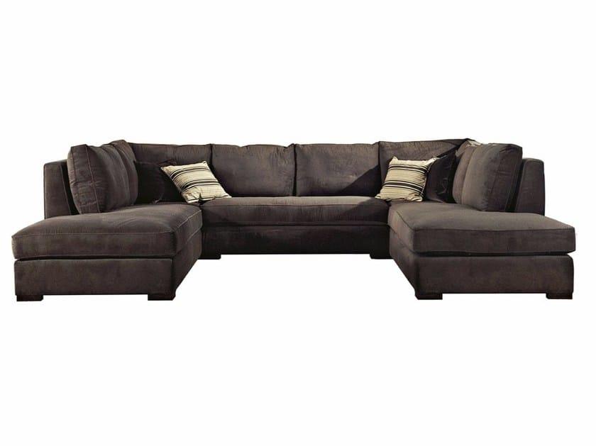 Corner fabric sofa GRIGIOCHIARO - SOFTHOUSE