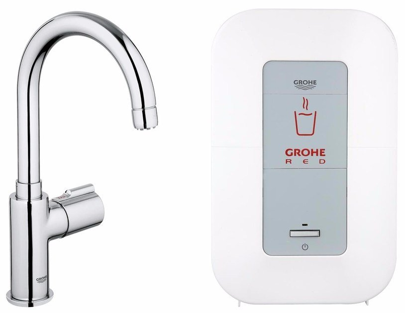 Dispenser acqua calda in ottone cromato GROHE RED® MONO by Grohe