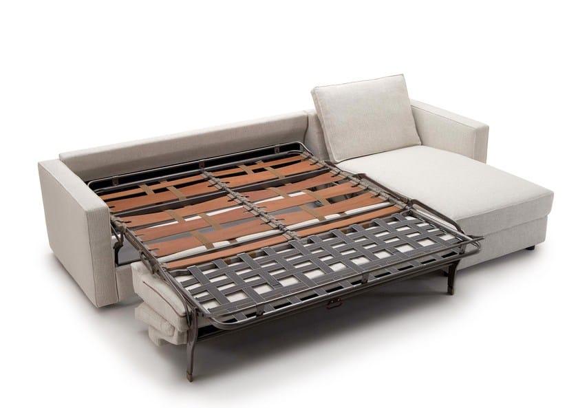 Divano letto in tessuto con chaise longue GULLIVER | Divano letto ...