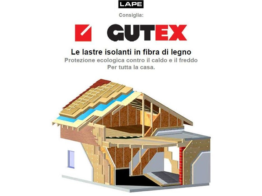 Wood fibre thermal insulation panel GUTEX® - Lape HD