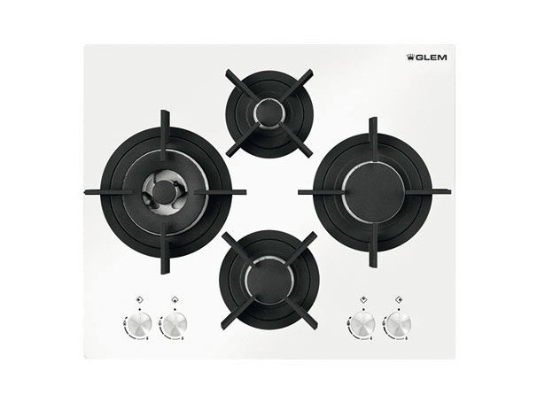 Gas built-in hob GVP685HWH | Hob - Glem Gas