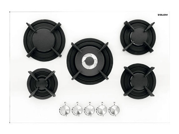 Gas flush-mount hob GVP755HWH | Hob by Glem Gas