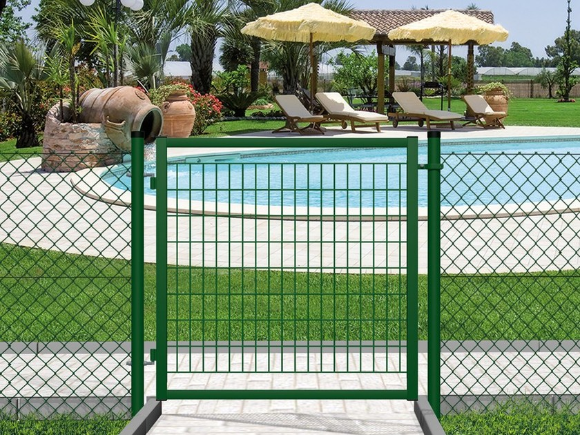 Cancello pedonale senza serratura garden economy ferro - Pannelli recinzione leroy merlin ...