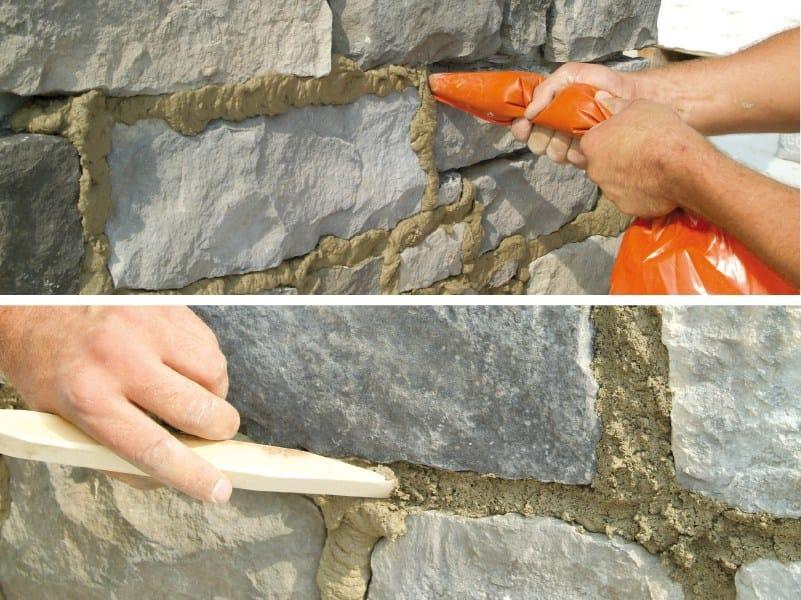Malta di finitura per la pietra ricostruita geopietra for Piani di progettazione domestica indiana con foto