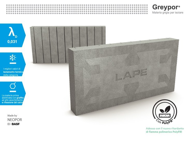 Neopor® thermal insulation panel Greypor® - Lape HD