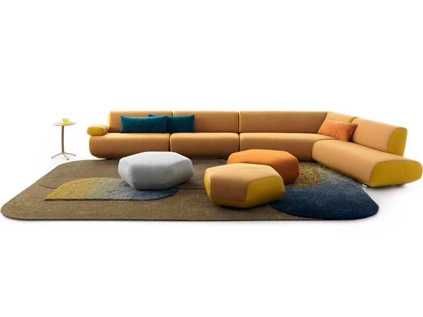 Corner fabric sofa GUADALUPE - LEOLUX
