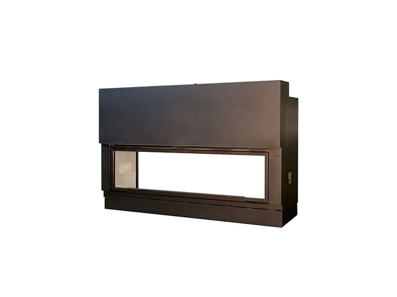 Double-sided Fireplace insert H1600DFXXL - Axis
