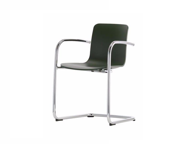 Cantilever chair with armrests HAL CANTILEVER ARMREST - Vitra