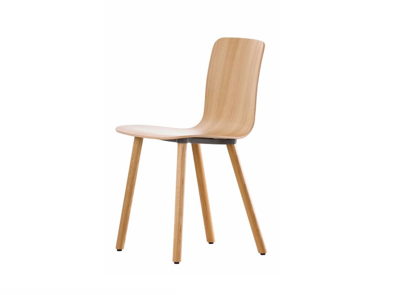 Contemporary style wooden chair HAL PLY WOOD - Vitra