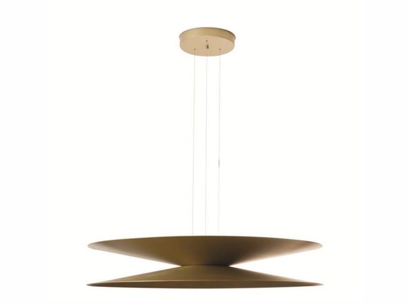 Lampada a sospensione a LED a luce diretta e indiretta in alluminio HALF & HALF | Lampada a sospensione - ROCHE BOBOIS
