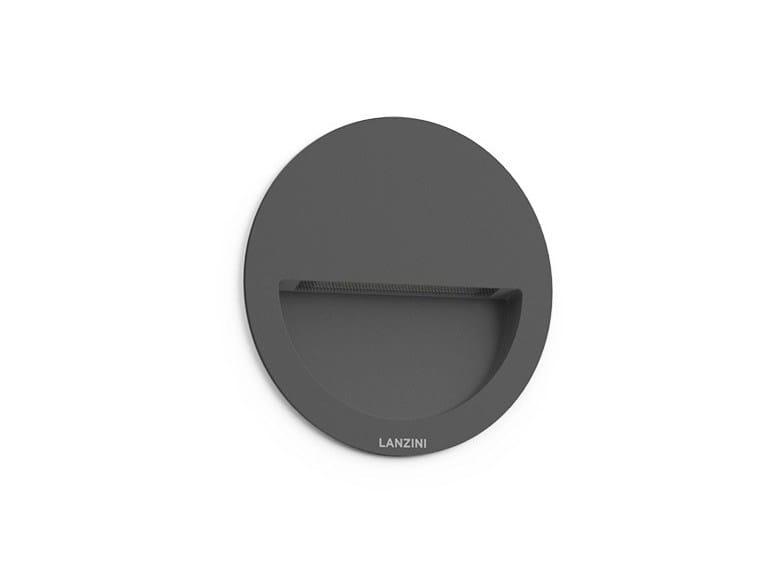 Recessed aluminium wall light HALF MOON by LANZINI