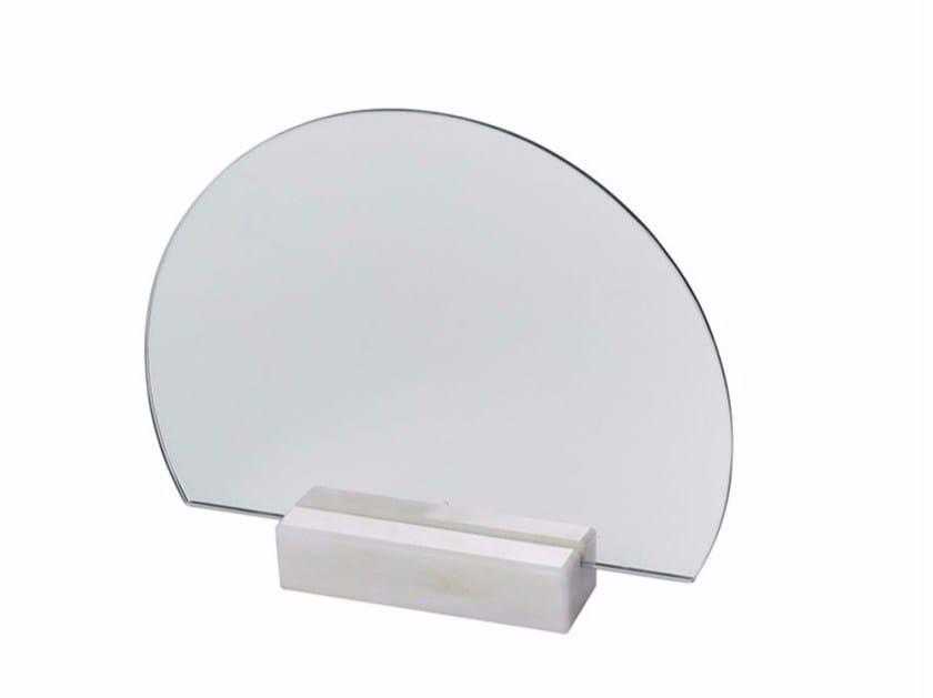 Countertop round mirror HALF-MOON MARBLE - Kristina Dam Studio