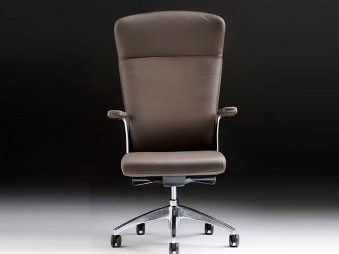 Executive chair with 5-spoke base with armrests HALFPIPE | Executive chair with armrests - D.M.